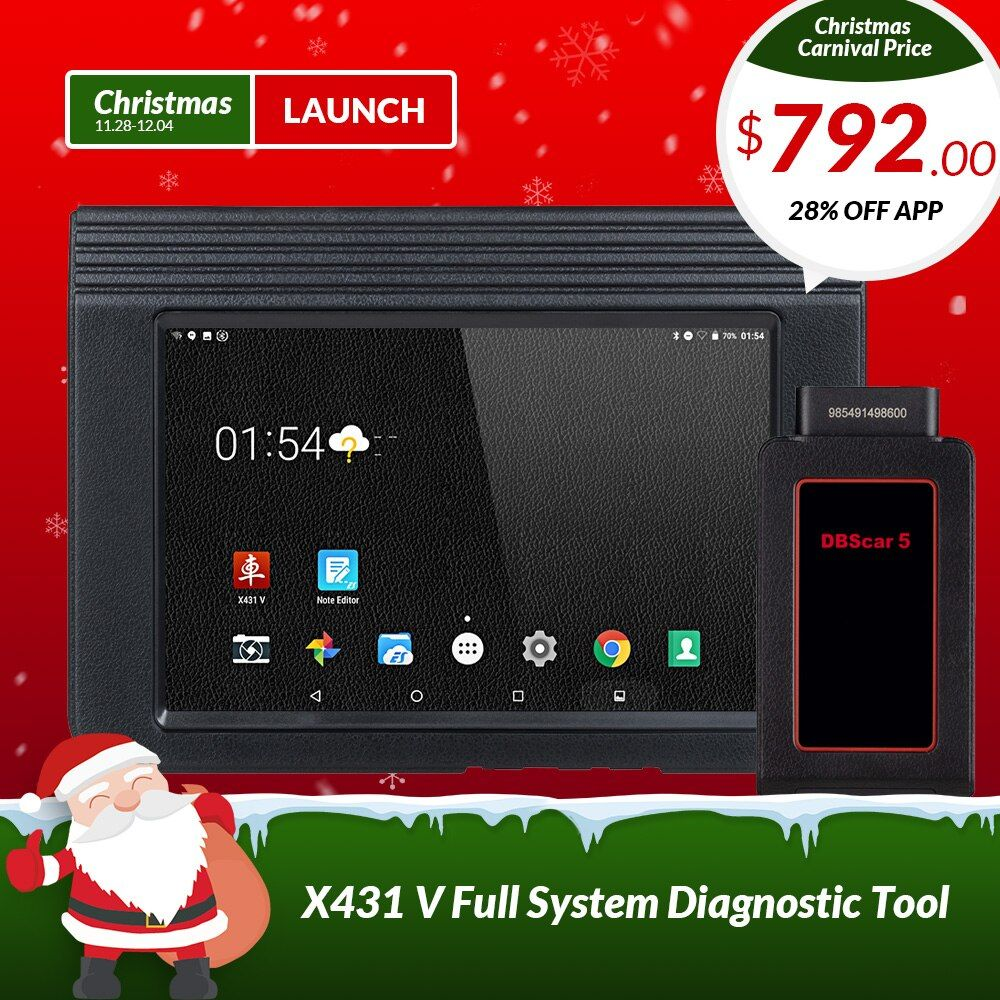 LAUNCH X431 V 8 Version Bluetooth Wi-Fi Full System Car Diagnostic tool with 2 Years Free Update X-431 V Pro Mini Auto Scanner