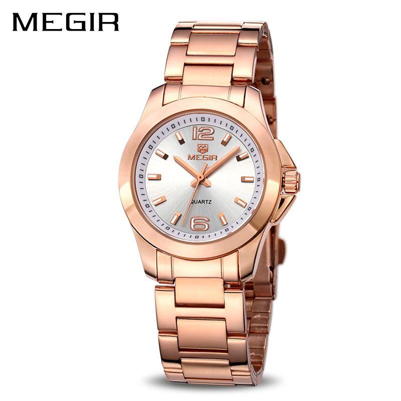 MEGIR Women Watches Luxury Couple Dress Wristwatch Relogio Feminino Clock for Women Montre Femme Quartz Ladies Watch for Lovers