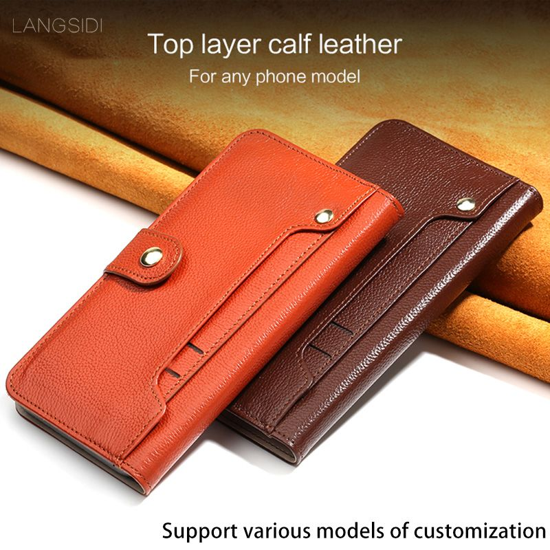 Genuine Leather Flip case For Xiaomi Mi Note Litchi texture rotate external Card Slots Magnetic buckle Wallet Style holster