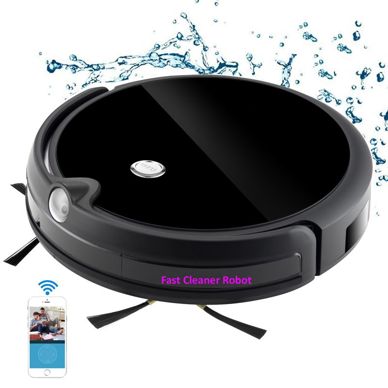 Camera Video Monitor Robot Vacuum Cleaner Wet and Dry Cleaning With Map Navigation, WiFi App Control,Smart Memory,Water Tank