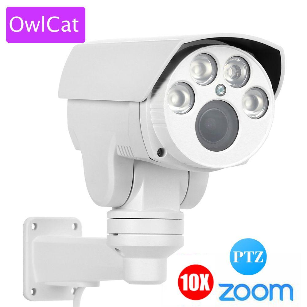 OwlCat Extérieure Bullet Caméra IP 4x 10x zoom Full HD 1080 p PTZ 2MP Motorisé Auto Zoom À Focale Variable IR Motion onvif