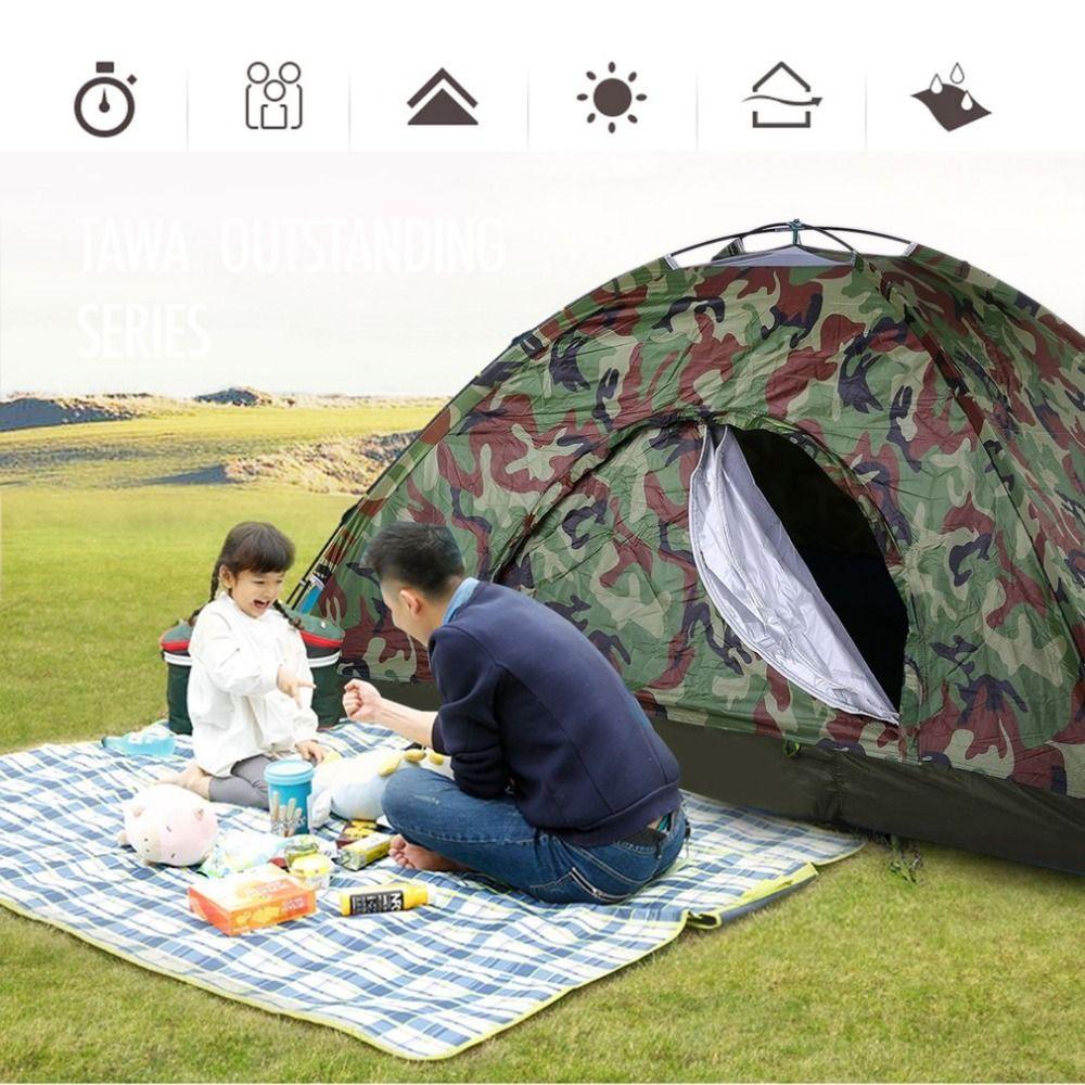 Outdoor Tragbare Single Layer Camping-zelt Wigwam Camouflage 2 Person Wasserdichte Leichte Strand Angeln Jagd Heißer Verkauf