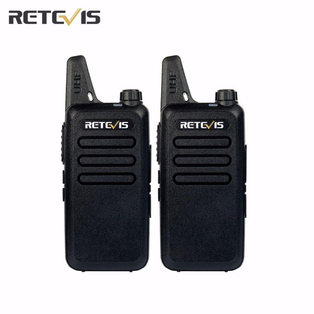2 pcs Retevis Talkie Walkie Émetteur-Récepteur RT22 UHF 400-480 MHz 2 W 16 CH CTCSS/DCS TOT VOX Silencieux Deux Way Radio Communicateur A9121A