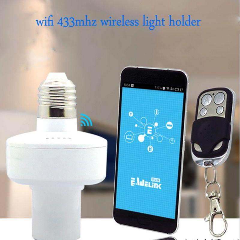 ITEAD Sonoff a mené le support de l'ampoule E27, lampe légère sans fil de WiFi de 433 MHz RF pour la maison intelligente améliorent la télécommande d'ios Android