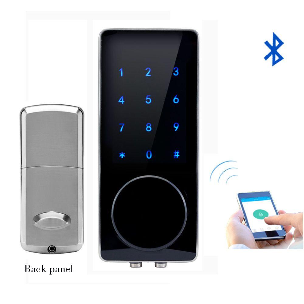 Bluetooth электронный замок двери приложение Управление, пароль, механический ключ Сенсорный экран клавиатуры цифровой код блокировки смартфо...
