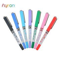 Ayron 1 Pcs aiguille droite liquide gel stylo 0.5mm stylos couramment Couleur stylo d'écriture pilote de haute qualité papeterie