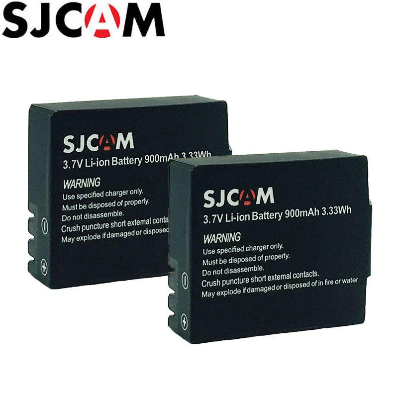 2 pièces SJCAM Batterie 3.7 V Li-ion 900 mAh Sauvegarde Piles Rechargeables Pour SJCAM SJ4000 SJ5000 SJ5000X Elite M10 WiFi Caméra D'action