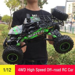 RC Car 1/12 4WD Remote Control High Speed Vehicle 2.4Ghz Electric RC Toys Monster Truck Buggy Off-Road Cars Kids Suprise Gifts