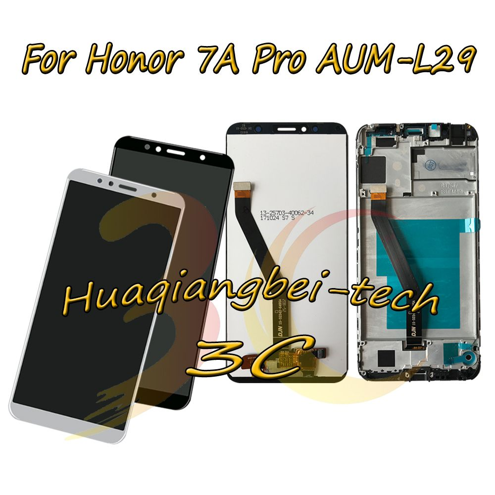 5.7'' New For Huawei Honor 7A Pro AUM-L29 LCD DIsplay Touch Screen Digitizer Assembly + Frame Cover For Huawei Honor 7C AUM-L41