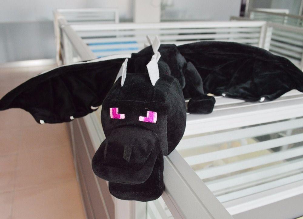 Mon monde minecraft ender dragon en peluche doux noir Minecraft enderdragon PP coton minecraft dragon Jouets