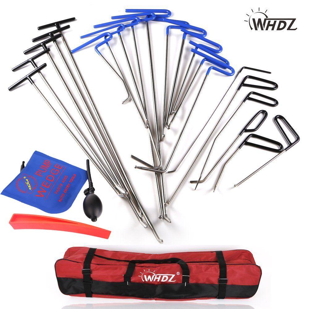 WHDZ Dent Repair pump wedge Tools Red Repair wedge Dent Hail Removal Repair Tools - PDR Hook Tools Push Rod PDR