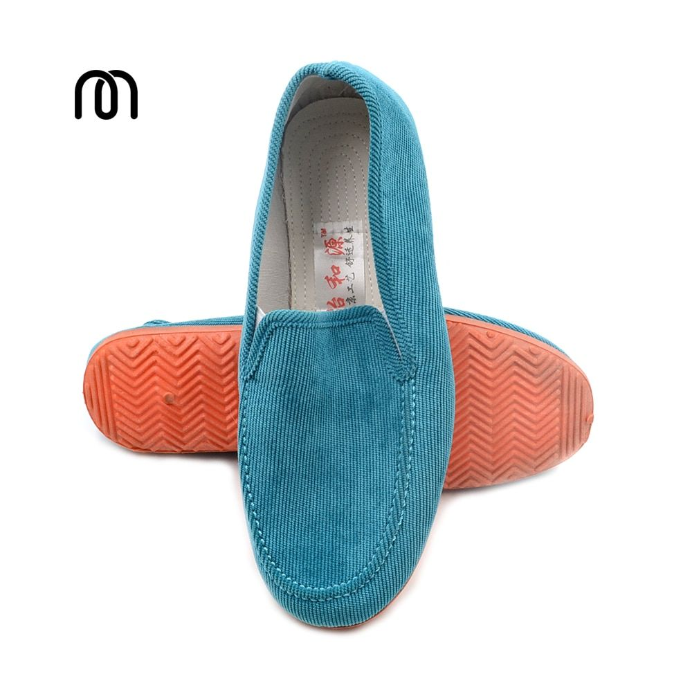 Free shipping autumn fashion corduroy shoes flats shoes lazy pedal cotton-made shoes casual shoes Moccasins rubber Flats