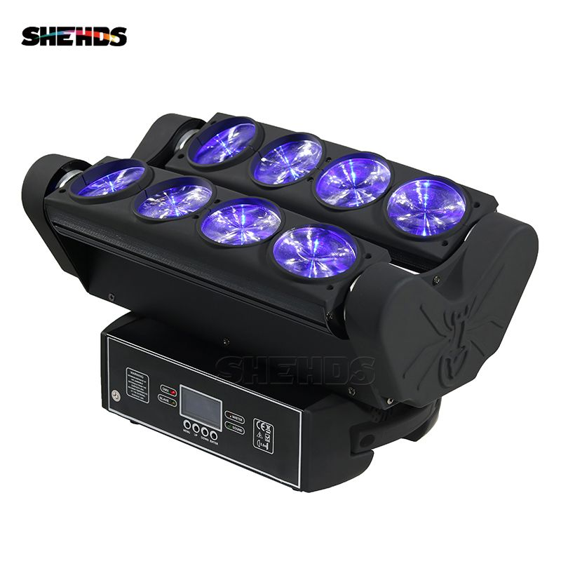 RGBW 4in1 8x10W Spider Moving Head Stage Effect Light LED Beam DMX512 For Professional Party Disco DJ And Christmas Decorations