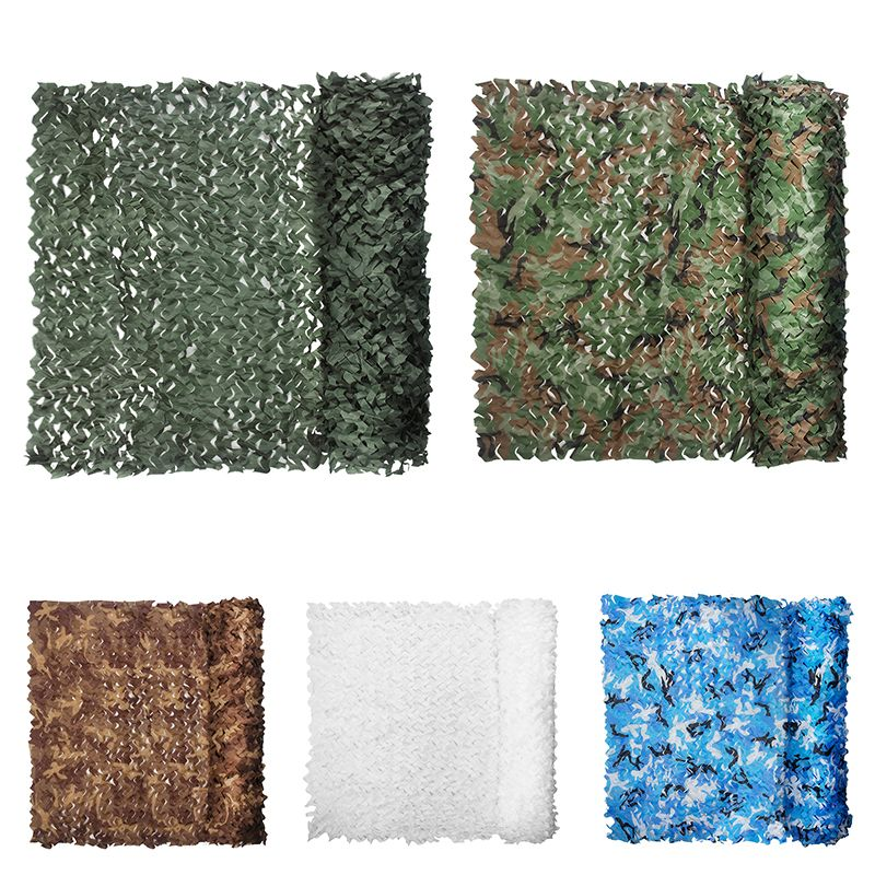 Camouflage Netting 5MX1.5M Military 7 Colors Training Hunting Exercise Camo Tarp Tent For Car-Cover Sun Shelter Camo Nets