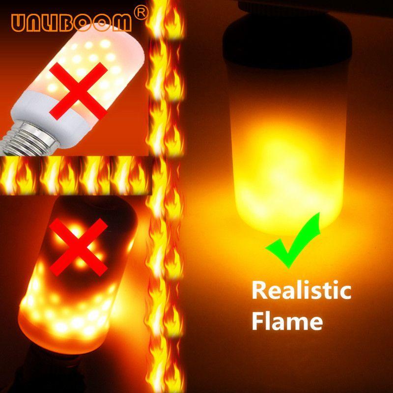 Creative 3 modes + détecteur de gravité Flamme Lumières E27 E26 E14 led Flamme Effet voyant d'incendie Ampoule 7 W 9 W Scintillement émulation lampe de décoration