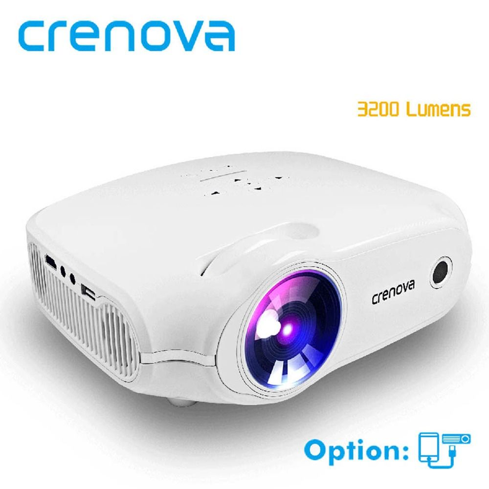 CRENOVA 2018 Newest LED Projector For Full HD 4K*2K Video Projector Android 7.1.2 OS Home Theater Movie Beamer Proyector