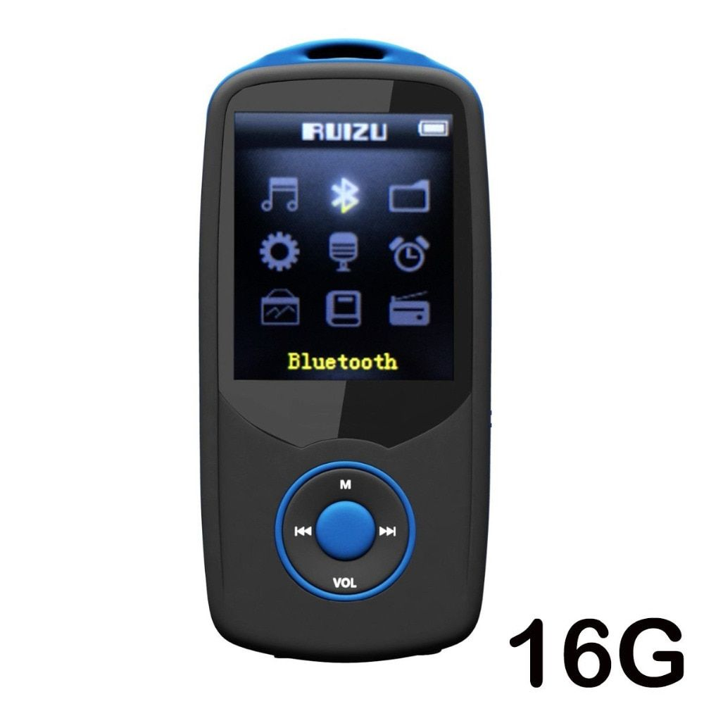 Mp4 player bluetooth Upgraded Version RUIZU X06 16GB Bluetooth Music Player With FM Radio Voice Recorder Expandable Up To 64gb