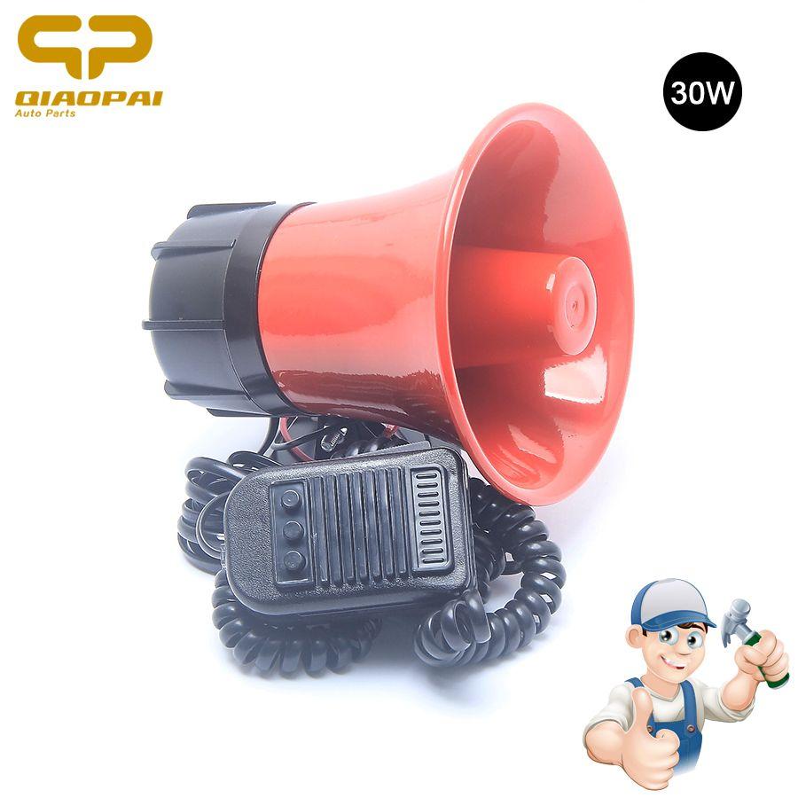 Universal Police Siren Sound Horn Loudspeaker 12V 30W Super Loud Horn Car Megaphone Speeker Siren Alarm Police Metal Truck Horn
