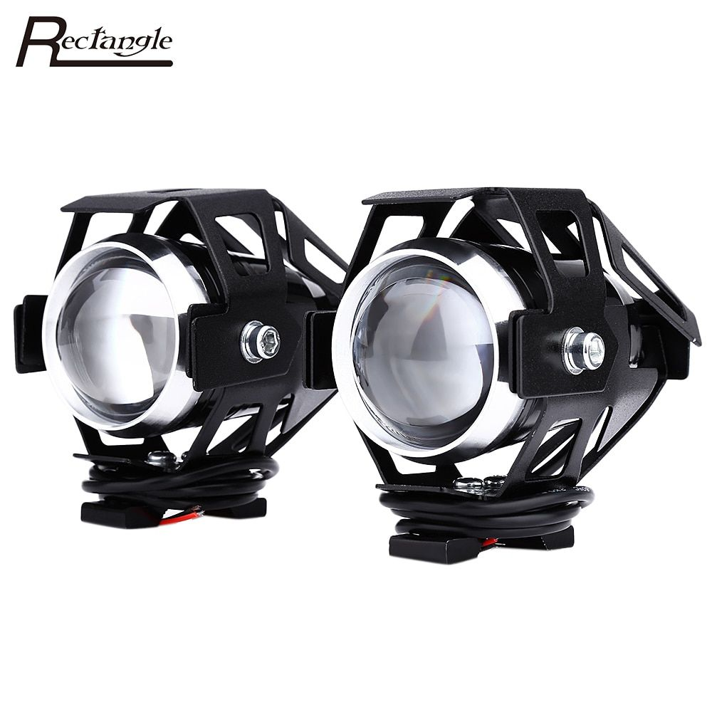 2pcs 10W 12V 3000LM U5 LED Transform Spotlight Motorcycle Headlight Aluminum Alloy Material High Brightness Easy to Install