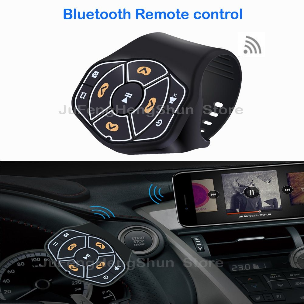 New Wireless Bluetooth Remote control Media button For Car Steering Wheel Bike For Samsung For iphone Music Photo Remote control