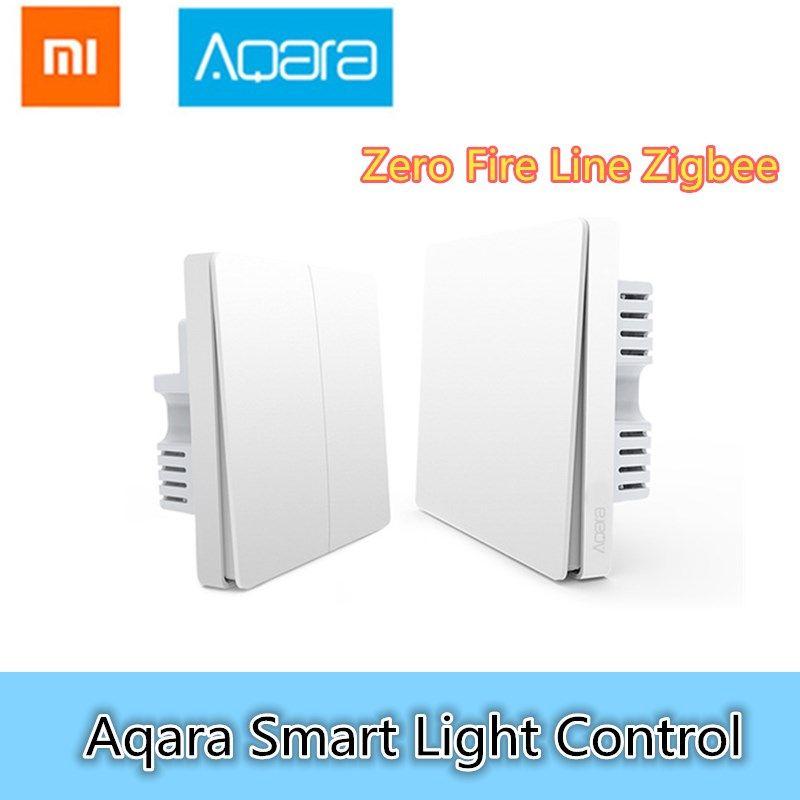 Xiaomi Aqara Smart Light Control Fire Wire And <font><b>Zero</b></font> Line ZigBee Wireless Connection Single Key Version/Double Key Version