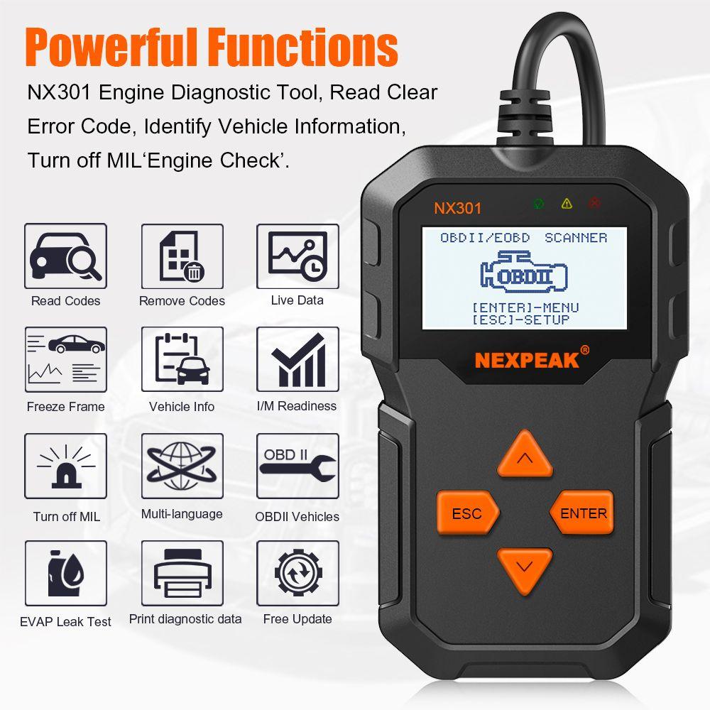 Scanner de Diagnostic automatique des véhicules à moteur OBD2 Modes de balayage OBD outils de balayage lecteur de Code de voiture Diagnostic voiture ODB 2 Pk AD310 ELM327
