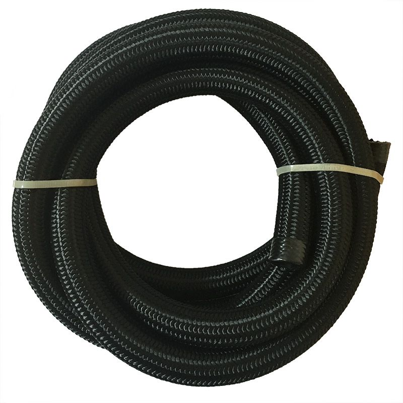 5 Meter AN 6 Nylon & Stainless Steel Racing Oil Hose Fuel Line Oil Cooler Hose Cotton Over Braided Oil Hose End Adapter Pipe