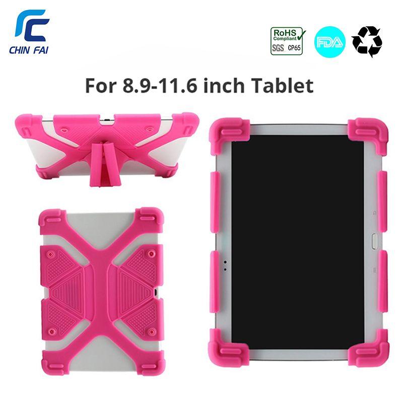 Universal Cas De Silicium pour 9.7 10 10.1 10.5 10.8 Pouces Tablet Cas pour iPad 2018 Samsung T590 T835 Huawei M5 BDF Antichoc Cas