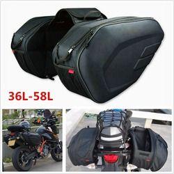 Universal fit motocicleta komine equipaje alforjas con cubierta para la lluvia 36-58L