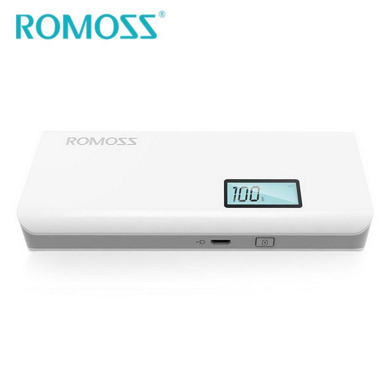 Original ROMOSS 10400 mAh batterie externe Sense 4 Plus 18650 Powerbank batterie de secours téléphone externe Pack LCD affichage Charge pour Xiaomi