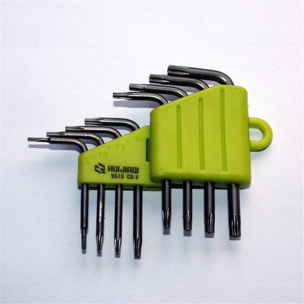 8pc /Set CRV CR-V Screwdriver Screw drivers Socket Tool Set T5 T6 T7 T8 T9 T10 T15 T20 Star Repair Wrench Kit 9610