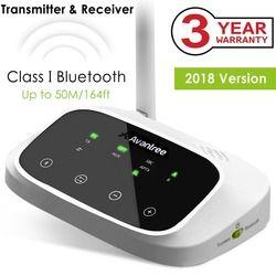 Avantree LONG RANGE Bluetooth Sender für TV Audio, Wireless Sender und Empfänger, Unterstützung Digital Optical, RCA AUX Port