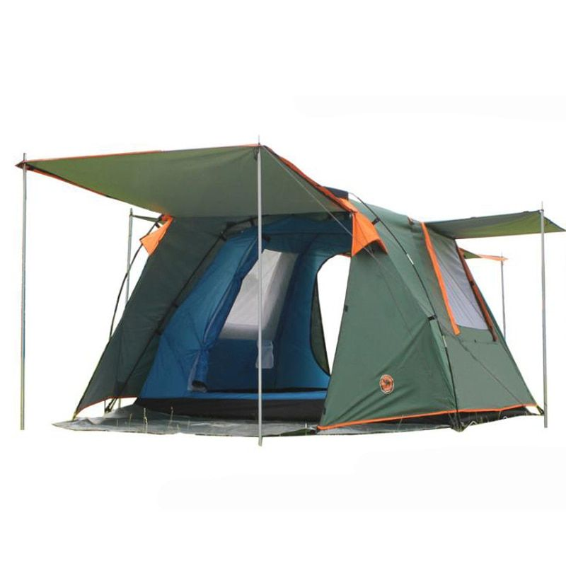 Kamel automatische doppel zelt im freien 3-4 personen camping zelt zelt 088 1 halle 1 schlaf zimmer umfassen eine paar von der vorderseite pole