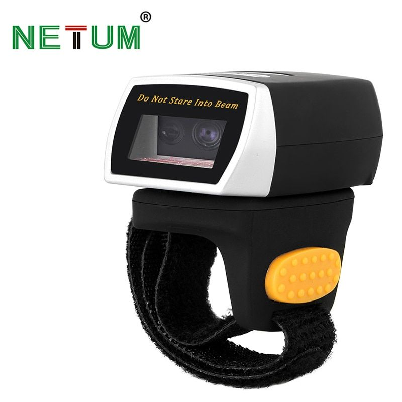 NT-R2 Portable Wearable 2D Bluetooth Ring Barcode Scanner Scanning QR Code Bar Code Reader NETUM