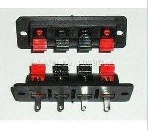 10 шт. 4 P аудио Динамик терминала двойной пружинный зажим Разъем гнездо