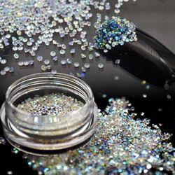 1.1 Mm Crystal Peri Kaca Micro Rhinestones untuk Kuku Desain Perhiasan Berlian Imitasi Kuku Seni Dekorasi 3D Kuku Rhinestones MJZ2005