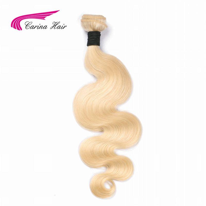 Carina Hair 613 Blonde Brazilian Remy Human Hair Bundles Body Wave <font><b>1PCS</b></font> 613 Color Hair Weft