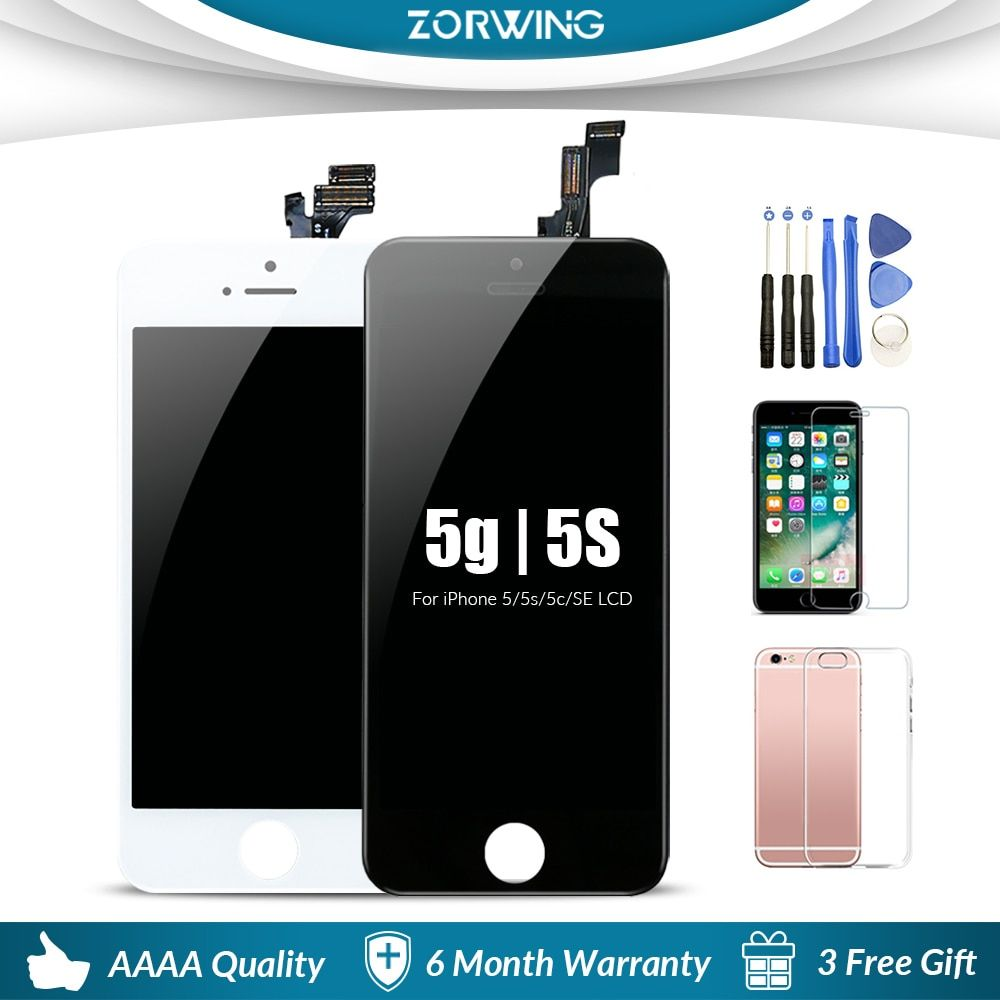 Grade AAA LCD For iPhone 5 5S LCD Display Touch Screen <font><b>Digitizer</b></font> Replacement Display For iPhone 5S 5 5C SE LCD Screen Assembly