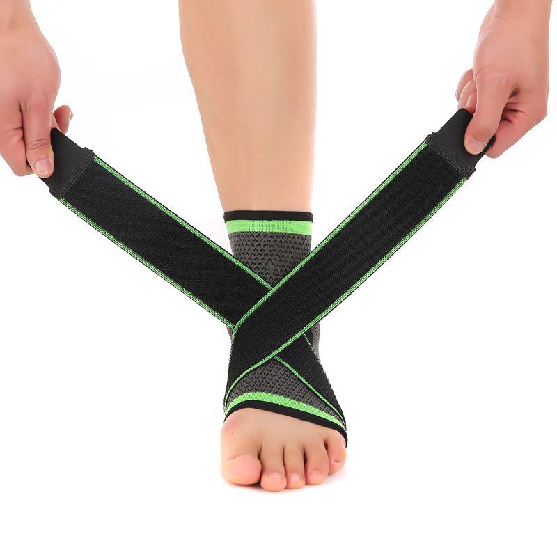 3D tissage élastique nylon sangle cheville soutien orthèse badminton basket-ball football taekwondo fitness talon protecteur équipement de gymnastique