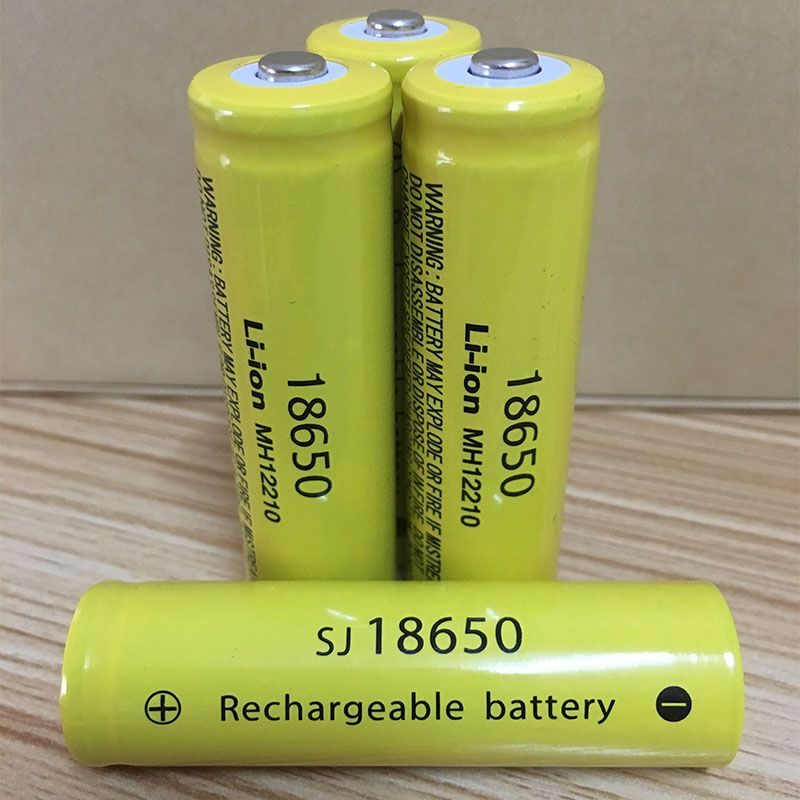 DING LI SHI JIA XH 18650 3.7 v Li-ion Batterie 9900 mah Haute capacité rechargeable au lithium batterie lampe de poche piles 3.7 v