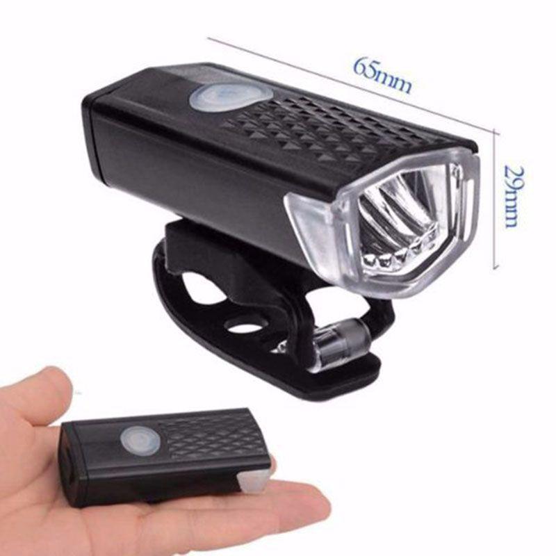 Rechargeable Bike Headlight Front Light 1000mAh 300 Lumen Bike Waterproof 6000K Bicycle Flashlight Dynamo Light Front Lights