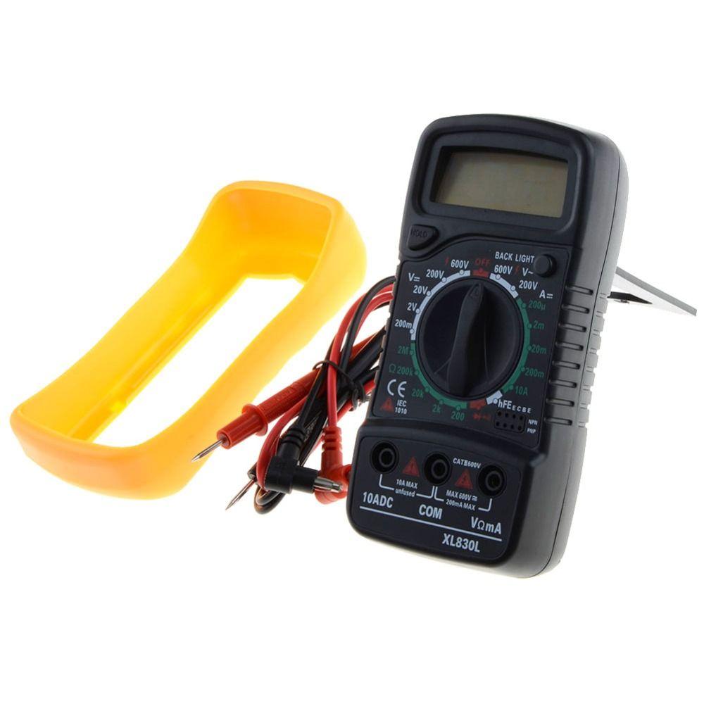 Portable Multimètre Numérique Rétro-Éclairage AC/DC Ampèremètre Voltmètre Ohm Testeur Compteur XL830L De Poche LCD Multimetro