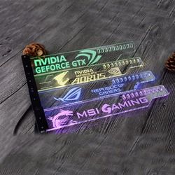 Acrylique Support utiliser pour Brace GPU Carte Taille 280*45*6mm utiliser pour Fix Carte Vidéo 5050 RGB Lumière connecter AURA utiliser pour GTX1080 RX580