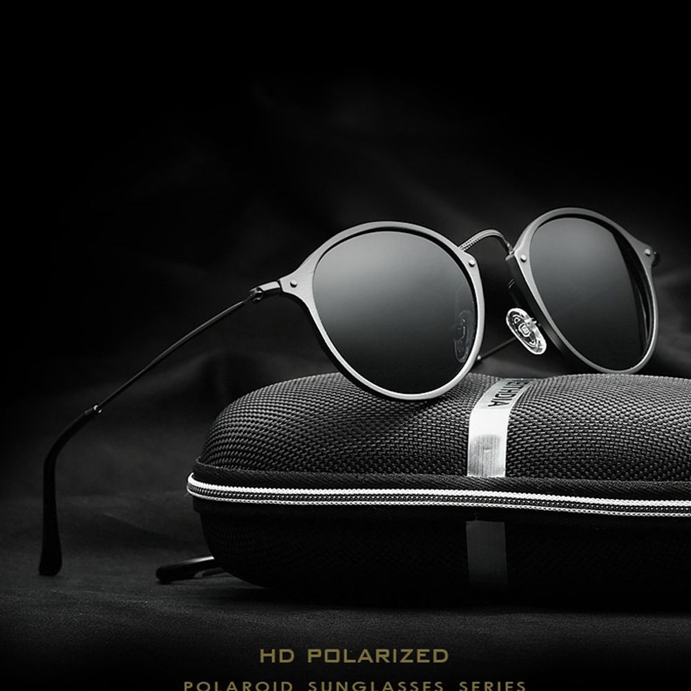 VEITHDIA Fashion vintage Unisex Aviation <font><b>Aluminum</b></font> Round Polarized SunGlasses Men Women brand designer Sun glasses Eyewear 6358
