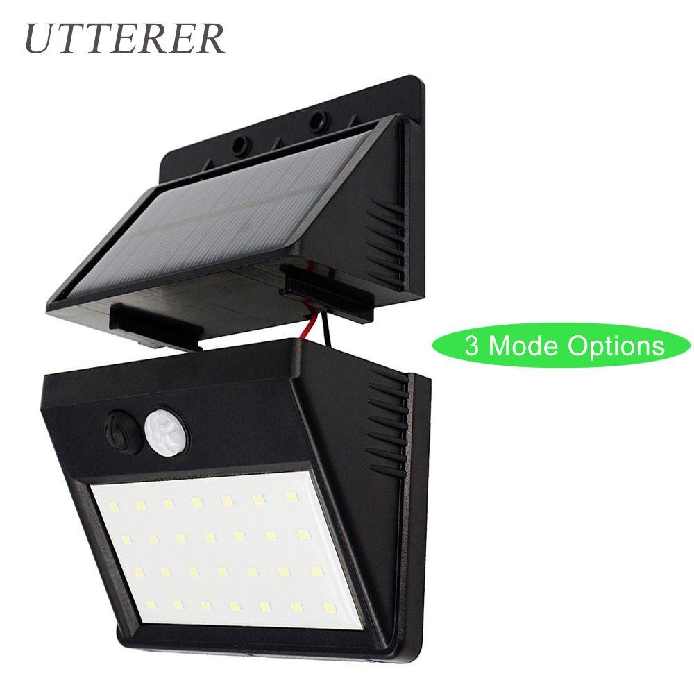 Outdoor 28 LEDs Split Solar Powered Light Bulb PIR Motion Sensor 3 Modes Waterproof Separate Garden Street Night Lamp Wall Light
