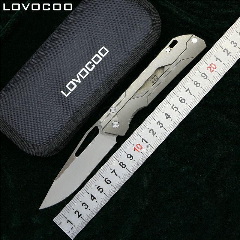 LOVOCOO MECHANIKER LEHRER Flipper klappmesser M390 klinge Titan griff Outdoor camping jagd tasche überleben messer EDC werkzeug