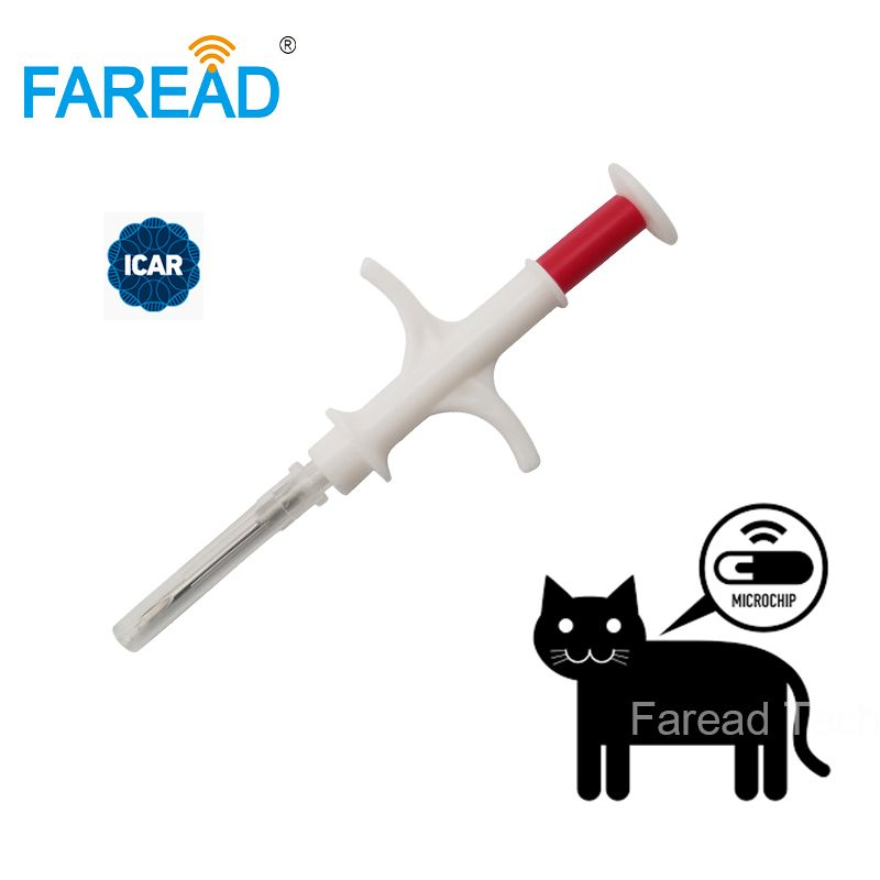1.4x8mm dog microchip animal syringe ID implant pet chip needle vet RFID injector PIT tag for aquaculture arowana fish farm