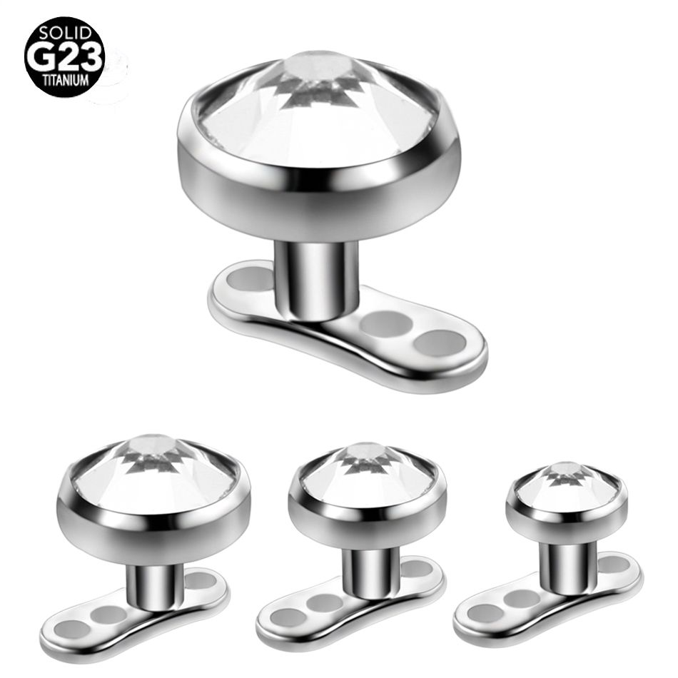 10pcs 14G G23 Titanium Micro Dermal Anchor Top with Holes base for Piercings Diver Implant in Skin Mamilo Pircing Body Jewelry
