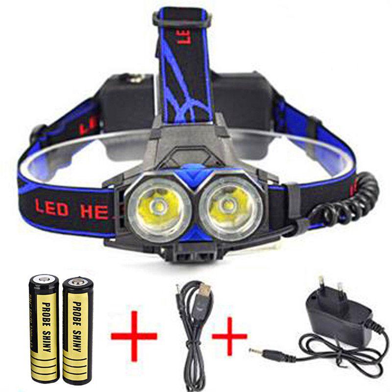 flashlight for bicycle  11000LM LED 2X XML T6 Headlamp Headlight Light Head Torch + USB Charger Battery dynamic led turn li 913
