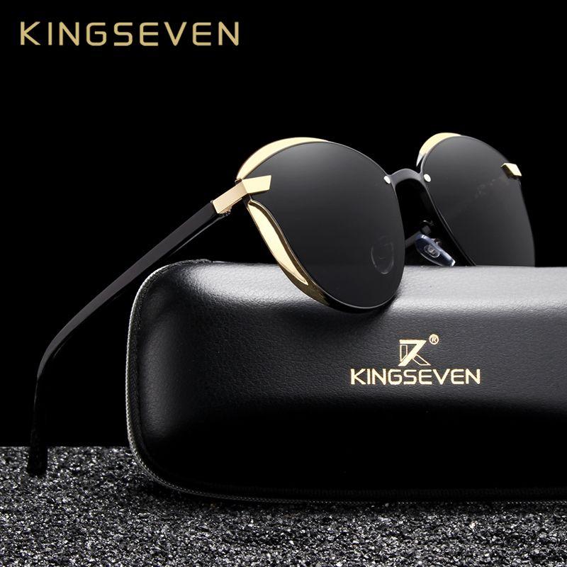 KINGSEVEN Cat Eye Sunglasses Women Polarized Fashion Ladies Sun Glasses Female Vintage Shades Oculos de sol Feminino UV400